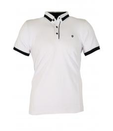 Блуза с якичка 7615 бяла