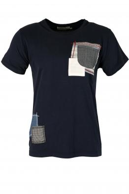 Мъжка тениска 705 тъмно синя