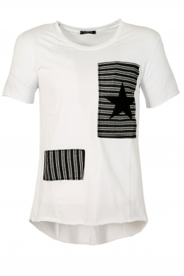 Мъжка тениска 9089 бяла