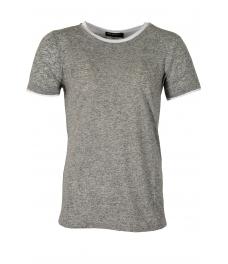 Мъжка тениска slim fit 666 сива