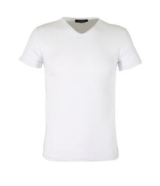 Мъжка тениска slim fit ЛЕКСУС бяла