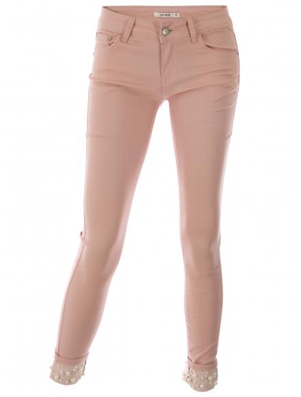 Дамски розови дънки Т-947