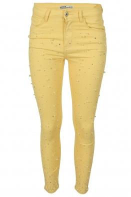 Дамски дънки 3348-6 жълти