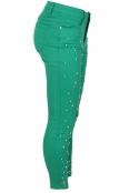 Дамски дънки 3348-6 зелени