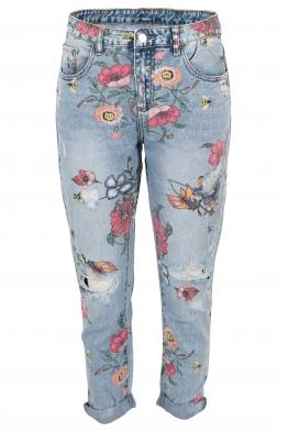 Дамски дънки на цветя H 9085