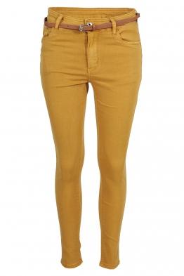 Дамски дънки MS1271 жълти