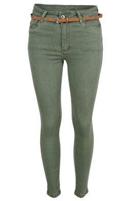 Дамски дънки MS1271 зелени