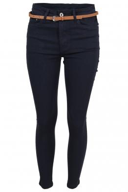Дамски дънки MS1271 тъмно сини
