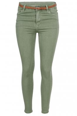 Дамски дънки S 3755 зелени