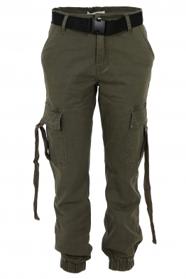 Дамски карго панталон 661-1 зелен