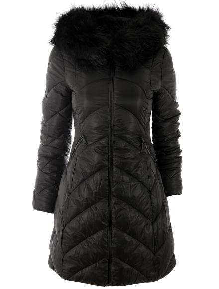 Дамско зимно яке 83017 черно
