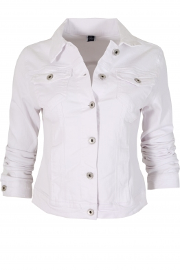Дънково яке 6150-2 бяло