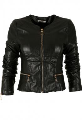 Дамско кожено яке HD 2001 черно