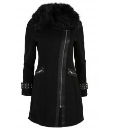 Дамско палто FS 77001 черно