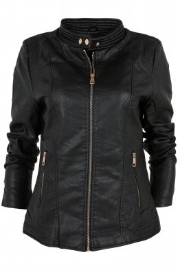 Дамско  кожено яке AY 189 черно