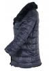 Дамско зимно яке с две лица Е26527 тъмно синьо