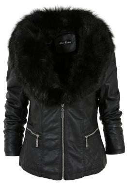 Дамско кожено яке K-M 939