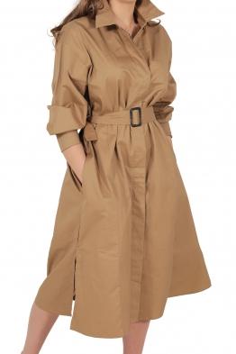 Дамска рокля - манто 3910 бежова
