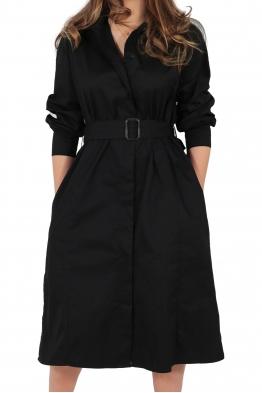 Дамска рокля - манто 3910 черна