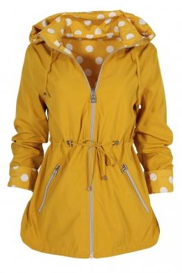 Дамско яке с две лица 2137 жълто