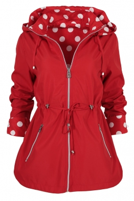 Дамско яке с две лица 2137 червено