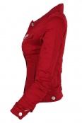 Дамско дънково яке GD 6053 червено