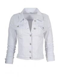 Дамско дънково яке GD 6546 бяло