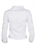 Дамско дънково яке GD 6331 бяло