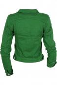 Дамско дънково яке GYB262 зелено