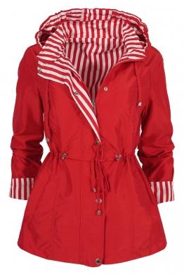Дамско яке с две лица 2159 червено