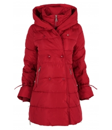 Дамско зимно яке 96012 червено