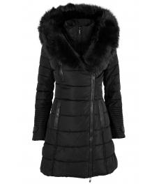 Дамско зимно яке 96013 черно