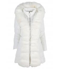 Дамско зимно яке 96022 бяло