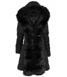 Дамско зимно яке 96022 черно