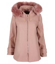 Дамско палто 18132-1 розово