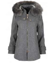 Дамско палто 18132-1 сиво