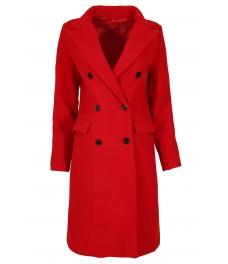 Дамско палто 18150-8 червено