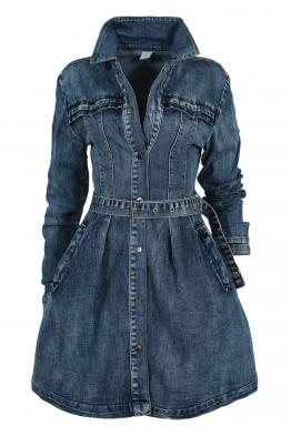 Дънкова рокля - манто  POP 5907