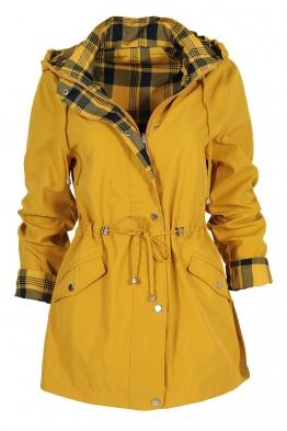 Дамско яке с две лица 2138 жълто