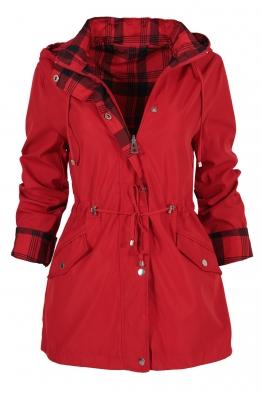Дамско яке с две лица 2138 червено