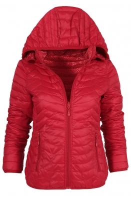 Дамско яке с две лица 81189 червено