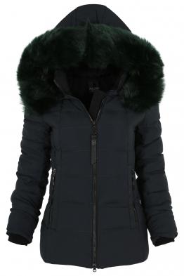 Дамско зимно яке 228 тъмно зелено