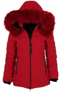 Дамско зимно яке 228 червено