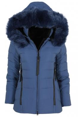 Дамско зимно яке 256 синьо