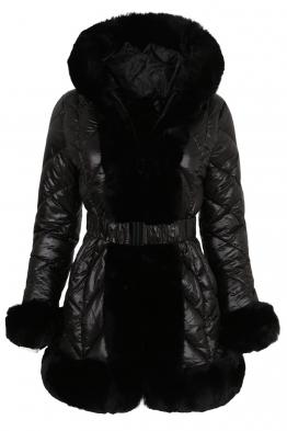 Дамско зимно яке 211016-57 черно