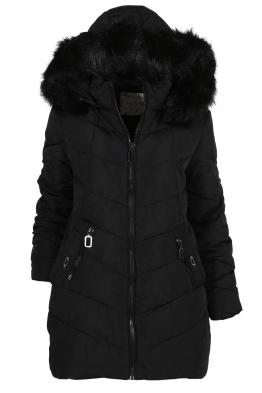 Дамско зимно яке A-1858 черно