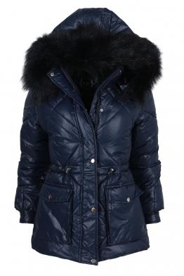 Дамско зимно яке CS 21910-44 тъмно синьо