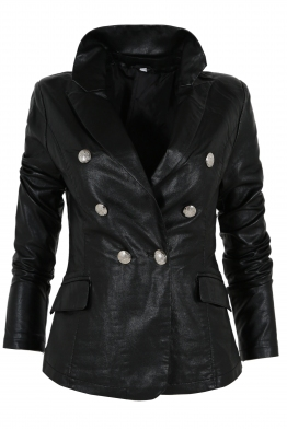 Дамско кожено сако 20808
