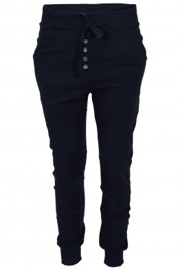 Панталон от трико 2018 тъмно син