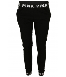 Панталон от трико PINK черен